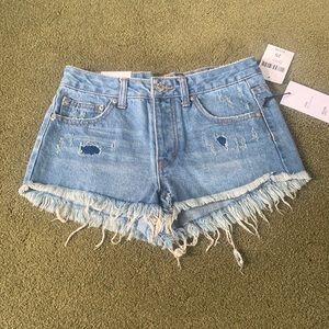 🍒F21 Festival Cut Jean Shorts